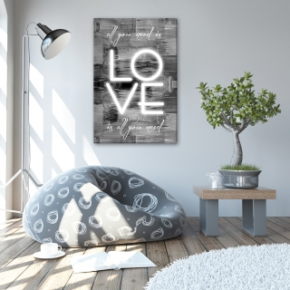 Fotoobraz ALL YOU NEED IS LOVE 60x40 cm